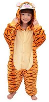 CLOHO Kid's Halloween Cosplay Costume Kigurumi Pajamas Tiger SleepWear