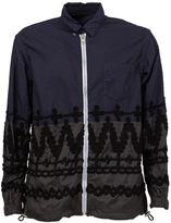 Sacai embroidered combo shirt jacket