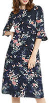 Oasis Kimono Sleeve Midi Dress, Blue/Multi