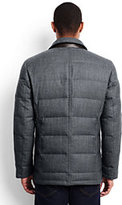 Lands' End Men's Wool Flannel Quilted Blazer-Light Beige