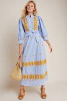 Antik Batik Embroidered Peasant Maxi Dress