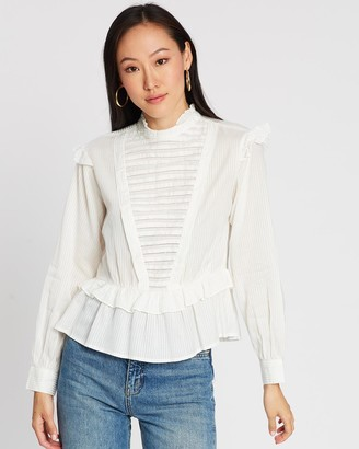 Scotch & Soda Top with Ruffles and Ladder Detail