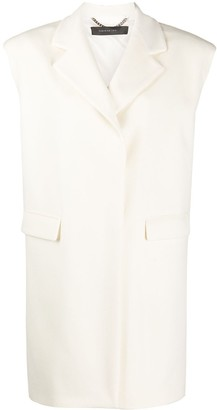 FEDERICA TOSI Single-Breasted Sleeveless Coat