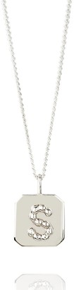 Amy Russell Taylor Jewellery Organic Initial Square Pendant - Silver