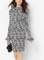 Michael Kors Floral-Print Bell-Sleeve Dress