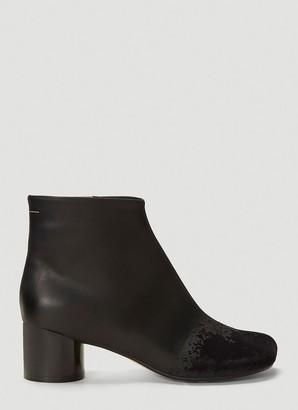 MM6 MAISON MARGIELA Flocked Velvet Ankle Boots