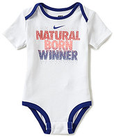 Nike Baby Boys Newborn-12 Months Natural Born Winner Short-Sleeve Bodysuit