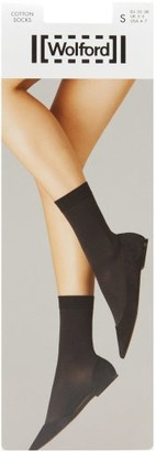 Wolford Cotton-blend Ankle Socks - Womens - Navy