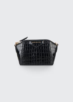 Givenchy Antigona Nano Crocodile-Embossed Satchel Bag
