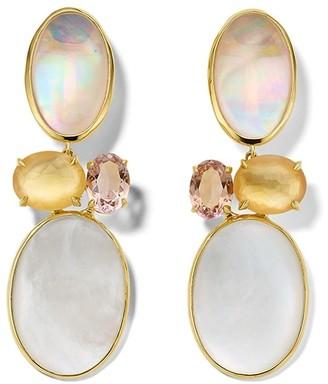 Ippolita 18kt yellow gold Rock Candy Luce medium 4-stone post earrings