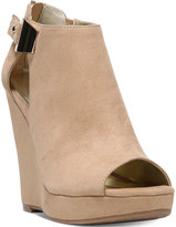 Carlos by Carlos Santana Manchester Cut-Out Peep-Toe Wedges