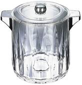 Carlisle 4.5 qt. Diamond Cut Ice Bucket/Wine Chiller with handles and Lid in Clear with Chrome Handles (Case of 6)