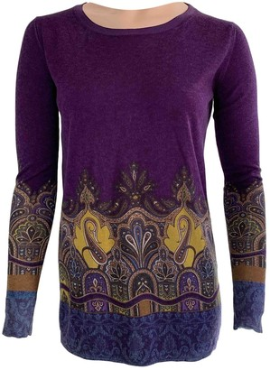 Etro Purple Silk Knitwear for Women