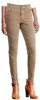 Lauren Ralph Lauren Petite Stretch Skinny Moto Jeans