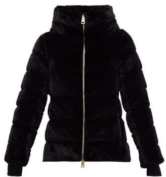 Herno Faux Fur Funnel Neck Jacket - Womens - Black