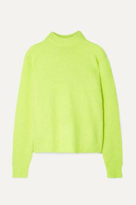 Tibi Cozette Neon Alpaca-blend Sweater - Bright yellow