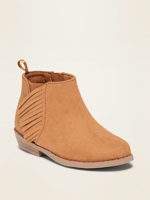 Old Navy Faux-Suede Fringe Booties for Toddler Girls