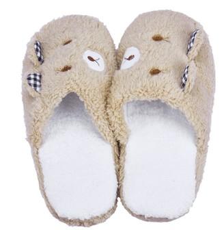 Overdose Home Ladies Plush Home Slippers Household Cartoon Lovely Bear Non Slip Slippers