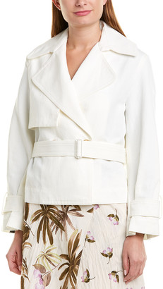 Vince Crop Belted Jacket