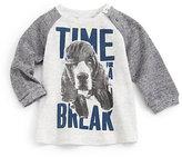 """Diesel Infant's """"Time For A Break"""" Melange Waffle Shirt"""