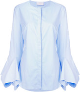 Sara Battaglia flared sleeves shirt - women - Cotton - 42