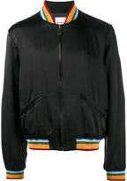 Palm Angels rainbow bomber jacket - men - Silk/Cotton/Acrylic/glass - 50