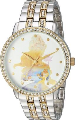 Disney Women's Belle Analog-Quartz Watch with Alloy Strap