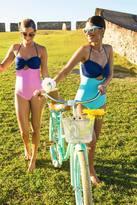 Shabby Apple La Cabana Swimsuit - Pink Stripes