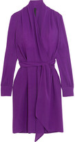 Gareth Pugh Silk-blend Crepe Wrap Dress - Purple