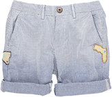 Scotch Shrunk PATCHED CUFFED SHORTS-BLUE SIZE 8
