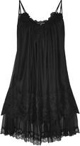 Dolce & Gabbana Appliquéd silk-blend organza chemise