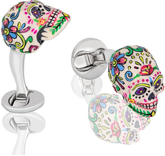 Fils Unique Sweet Yorick Mexican Skull Cufflinks