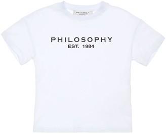 Philosophy di Lorenzo Serafini Logo Print Cotton Jersey T-shirt