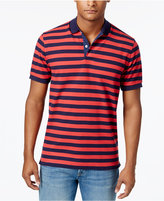Club Room Men's Striped Performance Polo, Only at Macy's