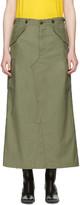 Junya Watanabe Green Cargo Skirt