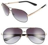 Dolce & Gabbana 61mm Aviator Sunglasses