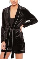 Missguided Women's Velvet Pajama Blazer
