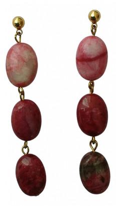 Polder Burgundy Gold plated Earrings