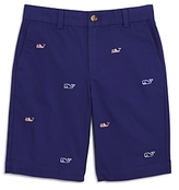 Vineyard Vines Boys' Flag Whale Embroidered Shorts - Big Kid