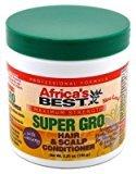 Africas Best Super Gro Maximum Hair&Scalp Conditioner 5.25oz (3 Pack) by Africa's Best