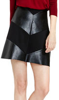 Vince Camuto Pleather Paneled Skirt