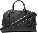 Burberry Checked Twill-Panelled Full-Grain Leather Holdall