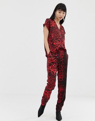 B.young leopard print jumpsuit