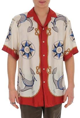 Gucci Nautical Print Notched Collar Shirt