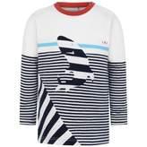 Ikks IKKSBaby Boys Striped Shark Top