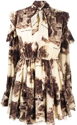 Off-White Abstract-Print Short Dress