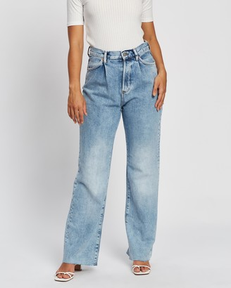 Mng Women's Blue Wide leg - Daniela Jeans - Size 34 at The Iconic