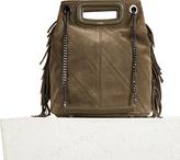 Maje Suede leather bucket bag