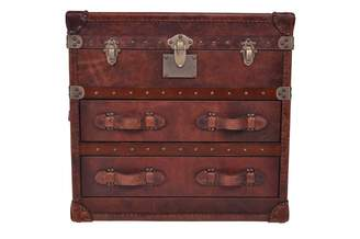 Carter Sinclair Vintage Leather 2 Drawer Chest/side Table