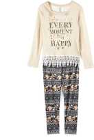 Beautees Brown 'Every Moment' Top Set - Girls